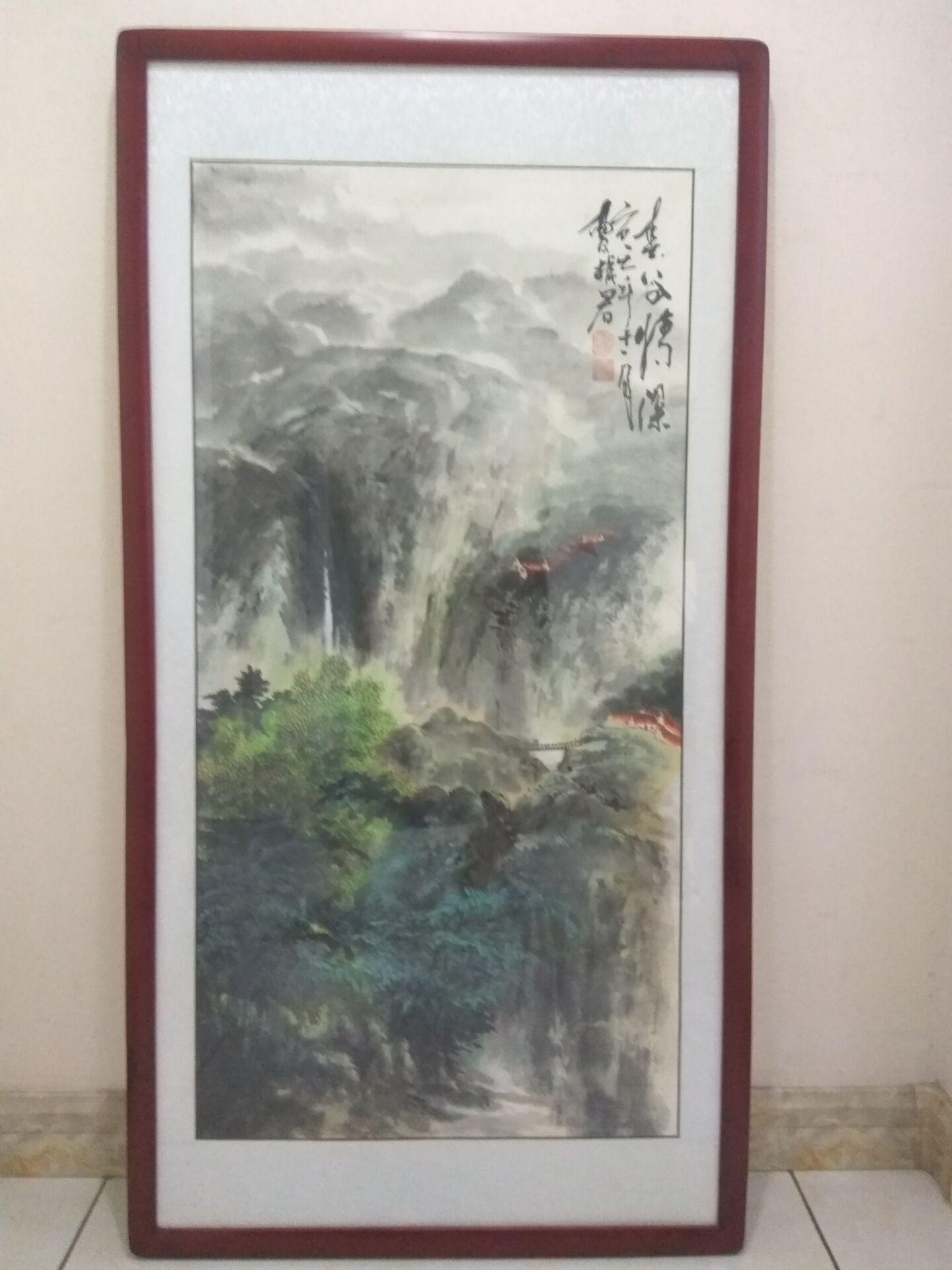 《春谷情深》曹振君写意山水画力作